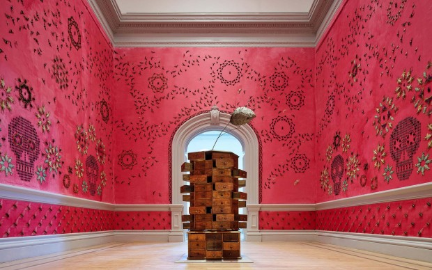 Jennifer Angus, In the Midnight Garden, 2015. Renwick Gallery of the Smithsonian American Art Museum. Photo by Ron Blunt