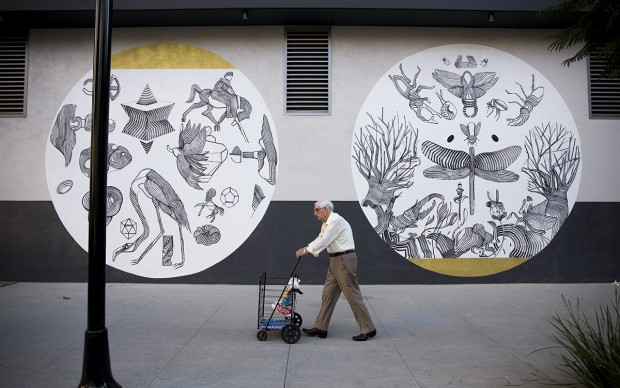 street art 2501 – The Metamorphosis – Los Angeles, 2015