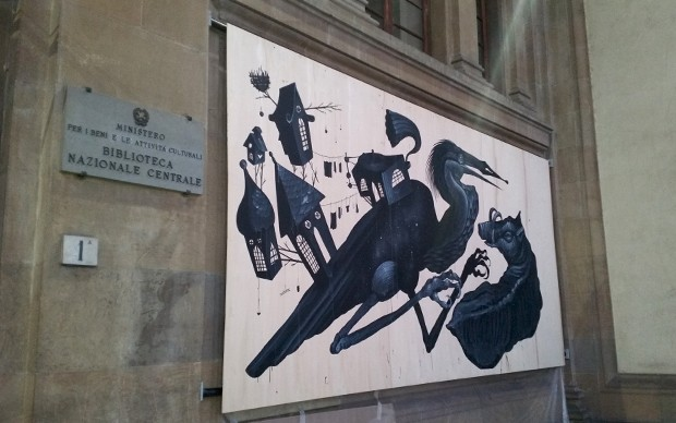 t.s. eliot la terra guasta street art firenze