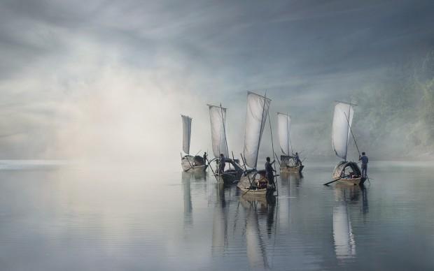 Vladimir Proshin, On the river - Lishui (China), vincitore del Siena International Photography Awards