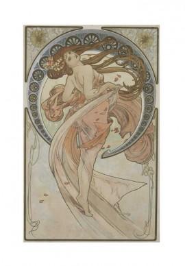 Alfons Mucha, Les Arts (La Danza), 1898.  Litografia a colori, cm 57,2 × 36,5, Richard Fuxa Foundation Foto: © Richard Fuxa Foundation