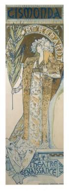 Alfons Mucha, Gismonda, 1894-1895 Litografia a colori, cm 210,8 × 68,2, Richard Fuxa Foundation. Foto: © Richard Fuxa Foundation