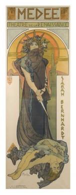 Alfons Mucha, Médée, 1898, Litografia a colori, cm 201,6 × 71,7, Richard Fuxa Foundation. Foto: © Richard Fuxa Foundation