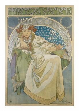 Alfons Mucha, Principessa Giacinta, 1911. Litografia a colori, cm 122,2 × 83,2, Richard Fuxa Foundation. Foto: © Richard Fuxa Foundation