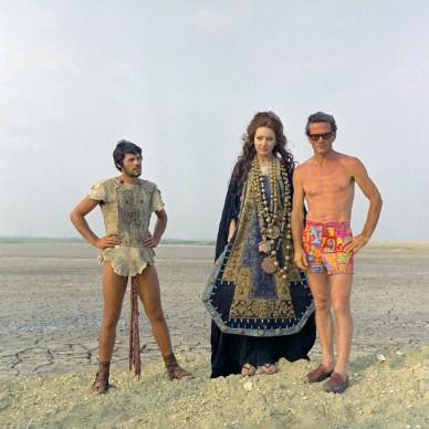 Giuseppe Gentile, Maria Callas e Pier Paolo Pasolini sul set di Medea,1969.© Mario Tursi/AFE.