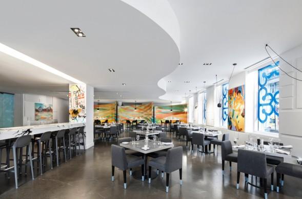 MASSIVart, W Montréal, BPC, SID LEE Architecture & Ivanhoé Cambridge, ristorante Être avec toi, Montréal, Canada. Photo by  Stéphane Brugger