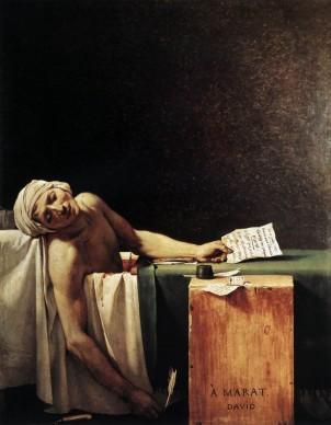 Jacques-Louis David, Marat assassinato, 1793, Bruxelles, Musées des Beaux-Arts