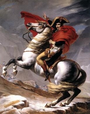 Jacques-Louis David, Il Primo Console supera le Alpi al Gran San Bernardo, 1801, Malmaison