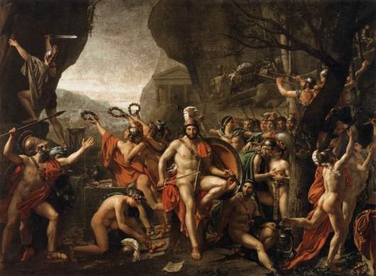 Jacques-Louis David, Léonida alle Termopili, 1800-1814, Parigi, Louvre