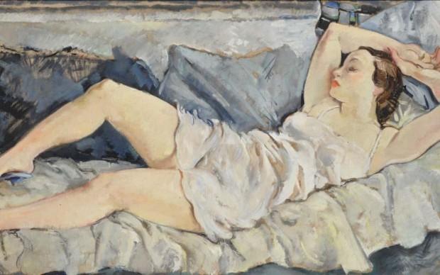Bernardino Palazzi Donna sdraiata, 1934 Courtesy Galleria Studiolo Milano