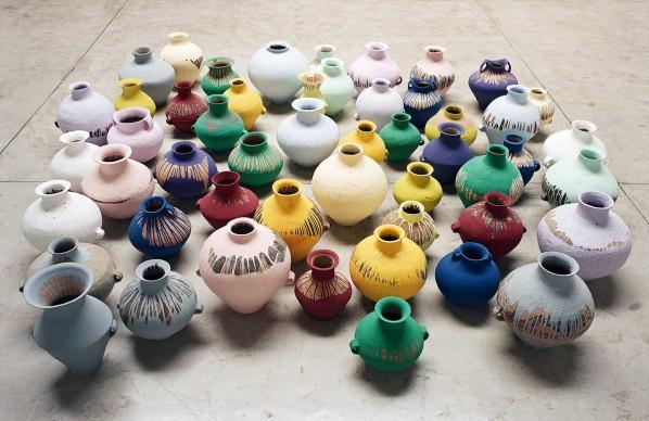 Ai Weiwei, Coloured Vases, 2006, Image courtesy Ai Weiwei Studio © Ai Weiwei