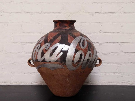 Ai Weiwei, Neolithic Pottery with Coca Cola Logo, 2007, 27.94 x 24.89 cm, Private collection, Image courtesy Ai Weiwei Studio © Ai Weiwei