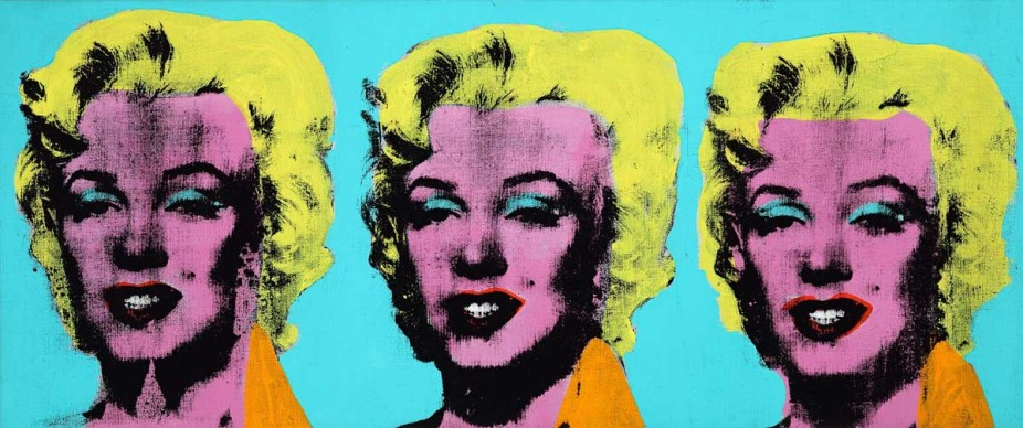 Andy Warhol, Three Marilyns, 1962, 35.6 x 85.1 cm, The Andy Warhol Museum, Pittsburgh; Founding Collection, Contribution The Andy Warhol Foundation for the Visual Arts, Inc. 1998.1.2866 © 2015 The Andy Warhol Foundation for the Visual Arts, Inc./ARS, New York. Licensed by Viscopy, Sydney.