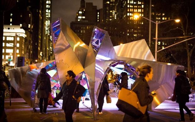 SOFTlab, Nova, Flatiron Public Plaza Holiday Design Competition 2015, Manhattan - New York. Photo courtesy of 3M