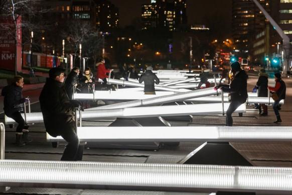 Luminothérapie, Impulse, Place des Festivals, Montréal - Canada. Photo credit: Ulysse Lemerise-OSA