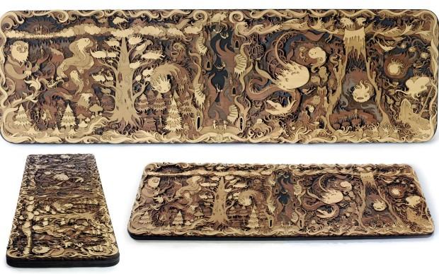 Martin Tomsky Woodwork illustrazioni intaglio legno
