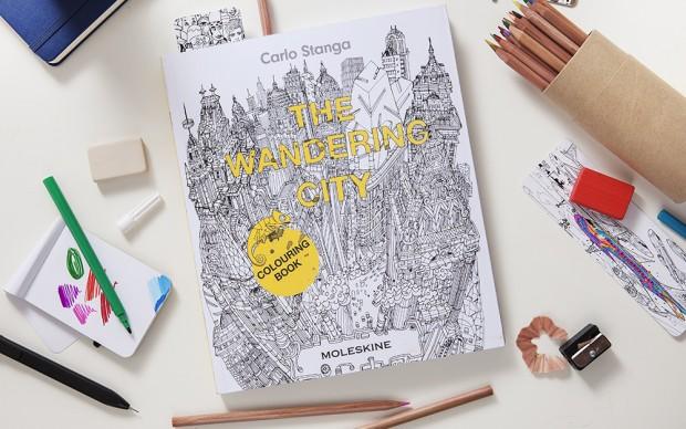 The Wandering City, libro da colorare prodotto da Moleskine