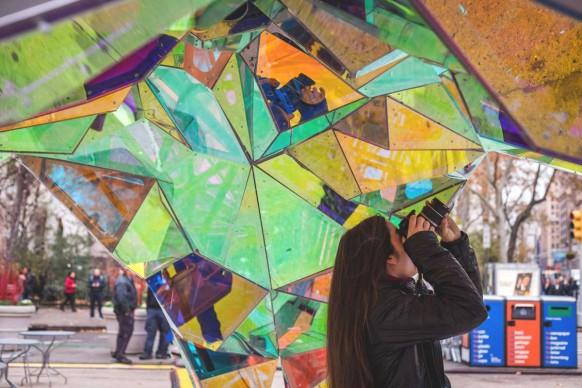 SOFTlab, Nova, progetto vincitore della Flatiron Public Plaza Holiday Design Competition 2015. Photo courtesy of Van Alen Institute