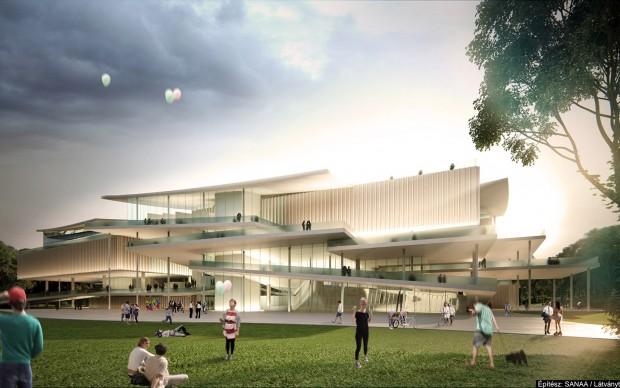 sanaa studio di architettura progetto new national gallery budapest