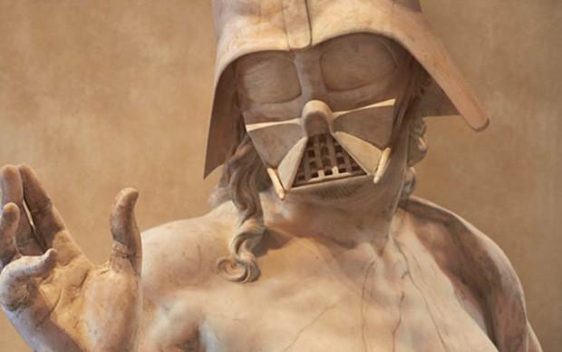 star-wars-Dart-Vader-travis-durden-scultura-classica-fotomontaggio