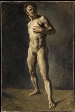 Eugène Delacroix, Etude d'homme nu. Credit: Photo (C) RMN-Grand Palais (musée du Louvre) / Tony Querrec