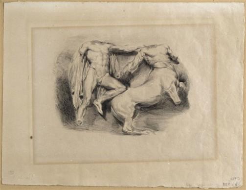 Eugène Delacroix, Thésée, vainqueur du centaure Euryte, 1825. Credit: Photo (C) RMN-Grand Palais (musée du Louvre) / Franck Raux