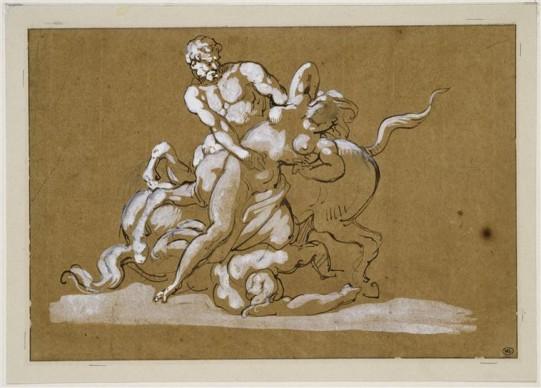 Théodore Géricault, Centaure et Nymphe. Credit: Photo (C) RMN-Grand Palais (musée du Louvre) / Jean-Gilles Berizzi