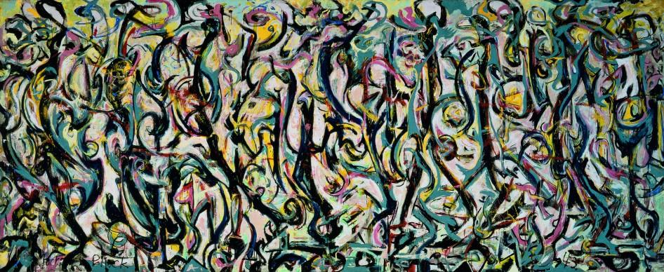 Jackson Pollock, Murale, 1943, opera realizzata per Peggy Guggenheim, University of Iowa Museum of Art