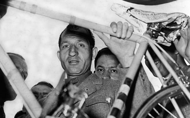 Gino Bartali nel marzo del 1952