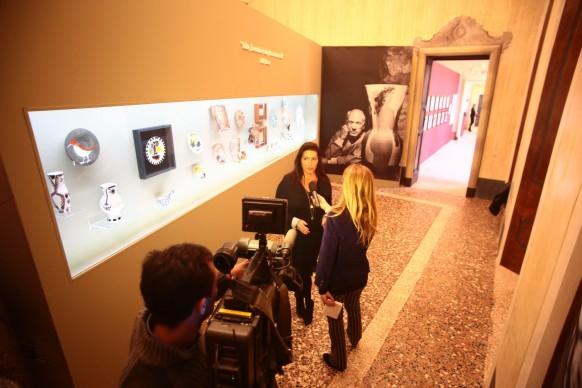 Veduta della mostra Picasso e le sue passioni a Palazzo Vistarino, Pavia, fino al 20 marzo 2016. Photo credit: F. Bruciamonti