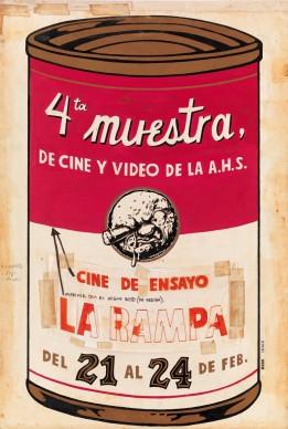 Eduardo Marin, Vladimir Llaguno (Nudo), poster realizzato in occasione della 4° mostra di film e video dell'Asociación Hermanos Saíz, Coll. Bardellotto Centro Studi Cartel Cubano