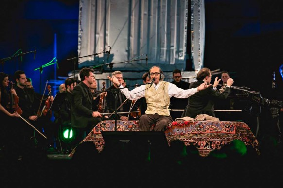 Milano, 26 gennaio 2016: Franco Battiato in concerto all'HangarBicocca per il terzo anniversario di Sky Arte HD ® Antinori