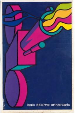Alfredo Rostgaard, poster realizzato in occasione del decimo anno di attività dell'ICAIC, Coll. Bardellotto Centro Studi Cartel Cubano