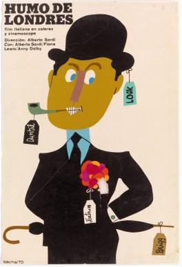 Eduardo Muñoz Bachs, manifesto del film Fumo di Londra diretto da Alberto Sordi, Coll. Bardellotto Centro Studi Cartel Cubano