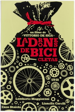 Giselle Monzón, manifesto del film Ladri di biciclette diretto da Vittorio De Sica, Coll. Bardellotto Centro Studi Cartel Cubano