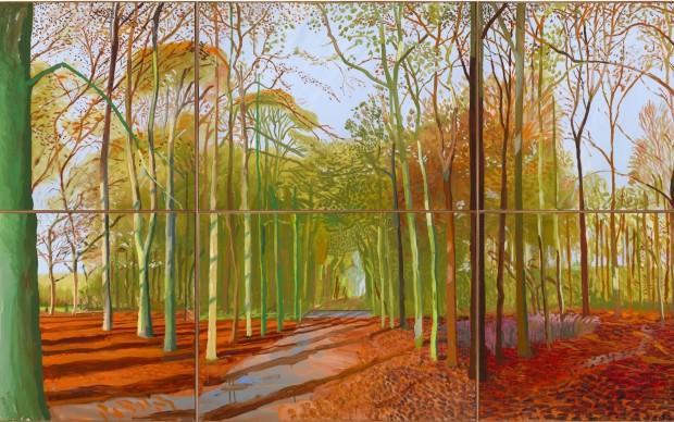 David Hockney – Woldgate Woods – 21, 23 e 29 novembre 2006 – courtesy l'artista