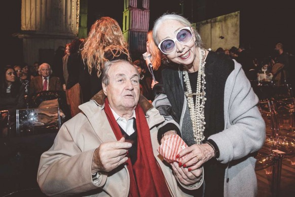 Ernesto Gismondi, presidente di Artemide, con Rossana Orlandi ® MESCHINA