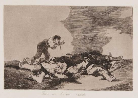 Francisco Goya, Los Desastres de la Guerra, 1810-23. Collection of Nationalmuseum