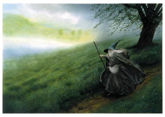 John Howe, Gandalf the Grey, originally published by HarperCollinsPublishers
