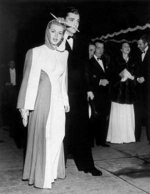 Lana Turner e Gregory Bautzer alla premiere del film 'Via col vento', nel 1940 (Photo by Keystone/Getty Images)