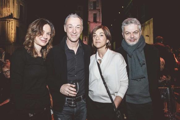 Linus e la moglie Carlotta con Daria Bignardi e Luca Sofri ® MESCHINA