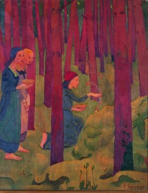 Paul Sérusier, L'Incantesimo (Il bosco sacro), 1891, Olio su tela, 91,5 x 72 cm,  Quimper, Collection du Musée des Beaux‐Arts © Musée des Beaux‐Arts, Quimper