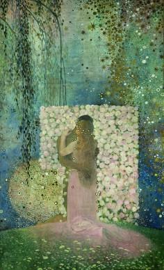 Galileo Chini, L'Amore, 1919. Olio su tela, 277 x 172 cm, Livorno ‐ Lucca, 800/900 Artstudio ‐ Studio d'arte dell'Ottocento © Ghilardi, Lucca
