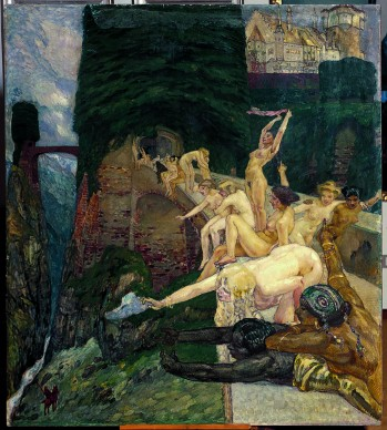 Leo Putz, Parsifal, 1900. Olio e tempera su tavola, 155 x 138 cm, Collezione Siegfried Unterberger.  Courtesy Archivio Sigfried Unterberger