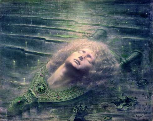 Jean Delville, Orfeo morto, 1893. Olio su tela, 79,3 x 99,2 cm, Bruxelles, Musees Royaux des Beaux‐Arts de Belgique, inv. 12209 © Royal Museums of Fine Arts of Belgium, Brussels / foto J. Geleyns © Jean Delville by SIAE 2016