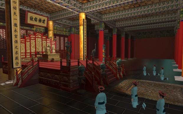 Città proibita pechino ricostruzione 3d mao museo arte orientale torino Trono_Prospettica