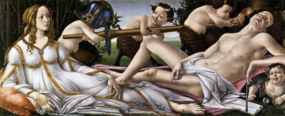 Sandro Botticelli, Venere e Marte, 1482-83