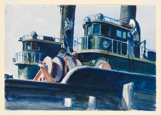 Edward Hopper (1882-1967), Two Trawlers, 1923-1924, Whitney Museum of American Art, New York; Josephine N. Hopper Bequest © Heirs of Josephine N. Hopper, Licensed by Whitney Museum of American Art