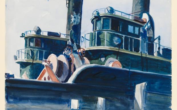 Edward Hopper, Two Trawlers, 1923-1924, Whitney Museum of American Art, New York; Josephine N. Hopper Bequest © Heirs of Josephine N. Hopper, Licensed by Whitney Museum of American Art
