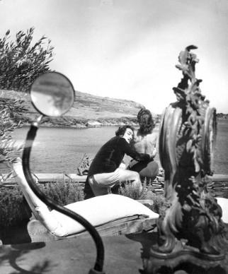 Salvador Dali e Gala nel giardino della casa di Cadaques, in Spagna   (Photo by Charles Hewitt/Getty Images)
